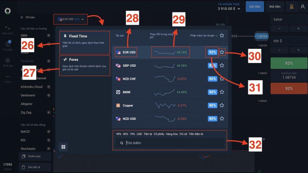 Lựa chọn Fixed Time Trade hoặc Forex để kiếm tiền trên Olymp Trade