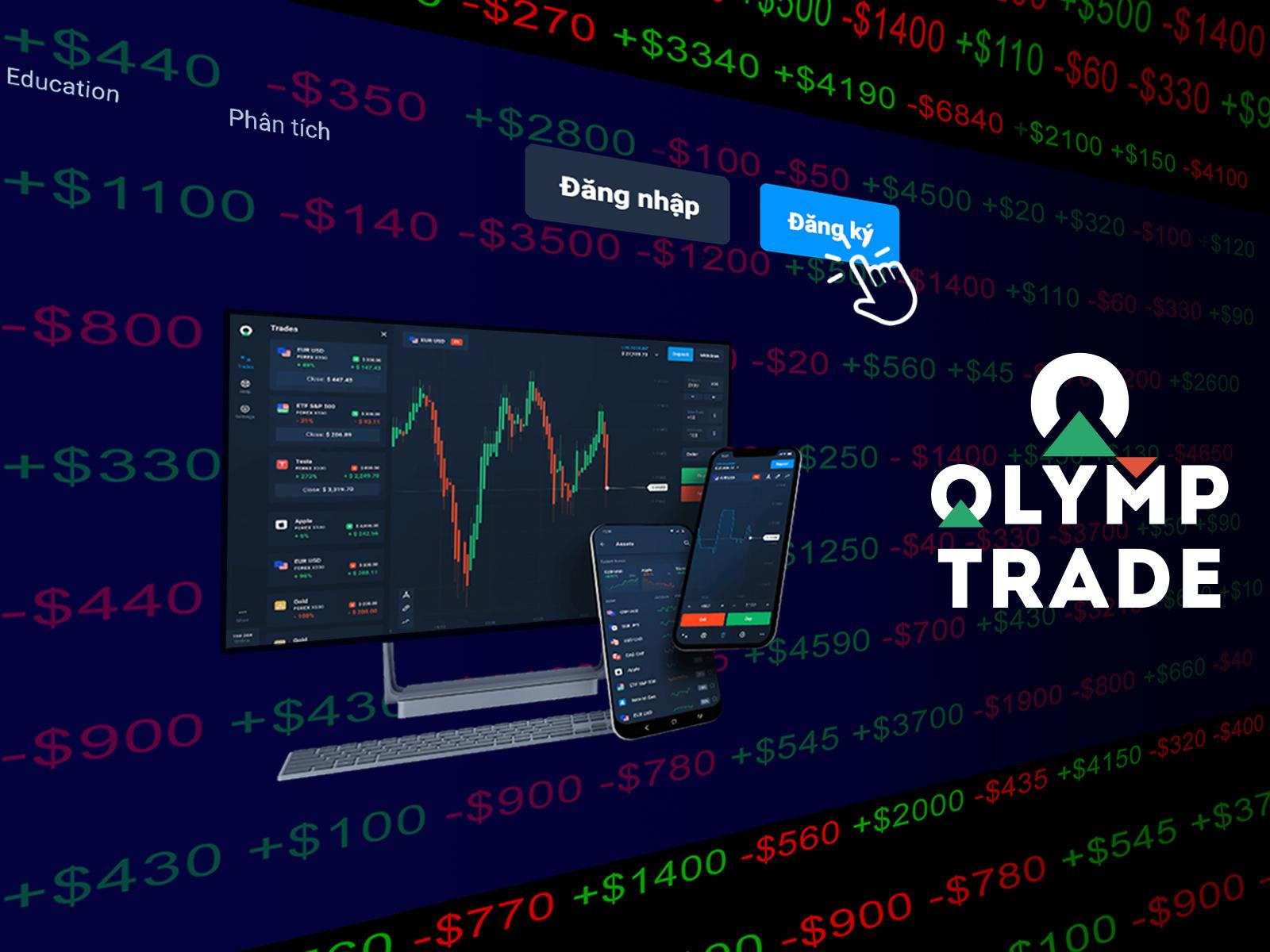 Hướng dẫn tạo tài khoản Olymp Trade trên Traderrr