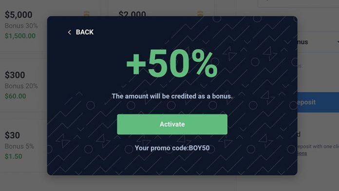Promo Codes Up to 50% Bonus in Olymp Trade