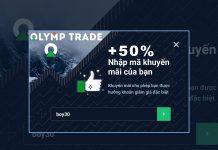 Hướng dẫn nhập mã khuyến mãi nạp tiền Olymp Trade