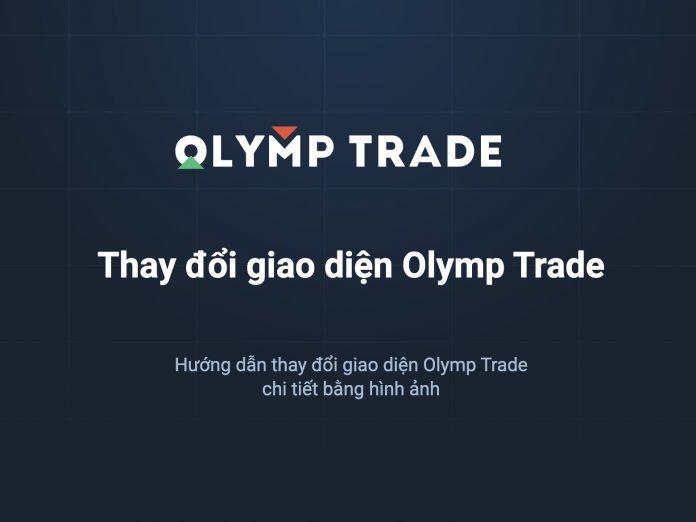 Hướng dẫn thay đổi giao diện Olymp Trade bằng hình ảnh