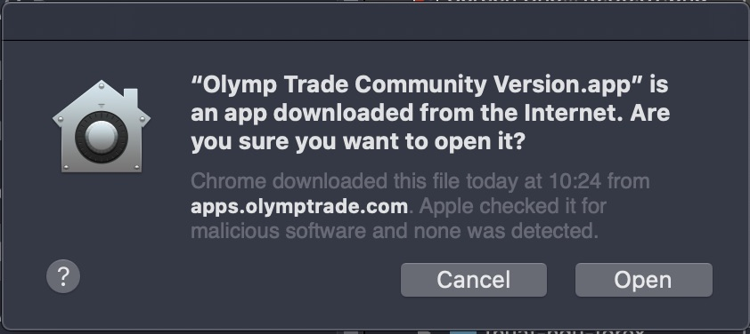 Olymp Trade is a third party production, so it needs to be check security