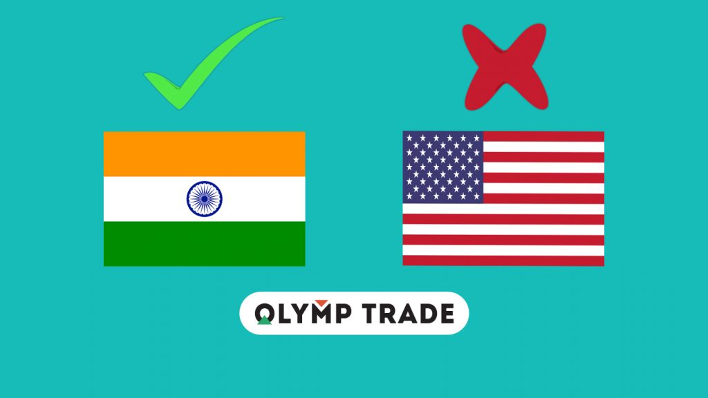 Olymp Trade is not allowed in some countries yet.
