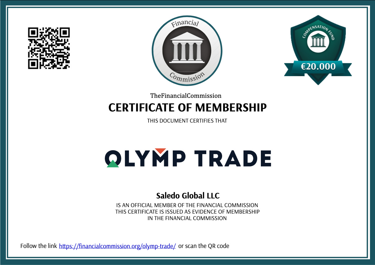 Olymp Trade is a member of FinancialCommission