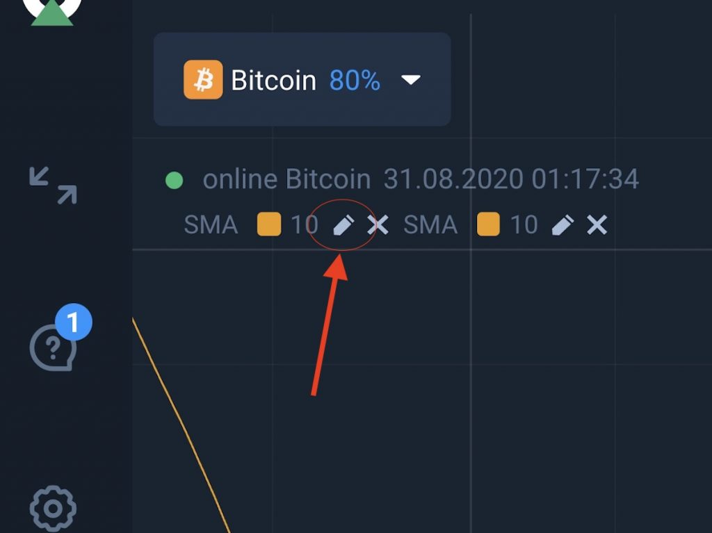 How to Install a double sma indicator on Olymp Trade