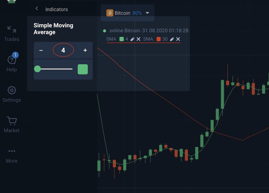 How to install sma dual indicator on Olymp Trade