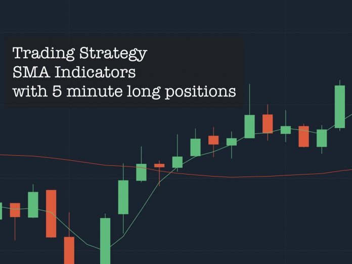 Trading Strategy Dual SMA Indicator for 5 minutes long position