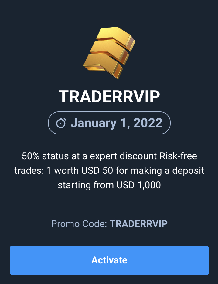 Promo Code Upgrade Expert VIP Account on Olymp Trade